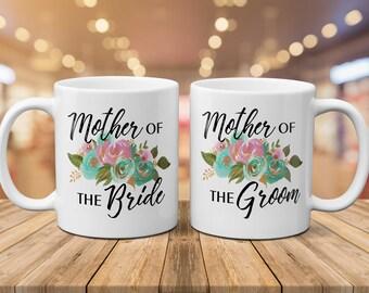 Mother of the Bride Gift, Mother of the Groom Gift, Mug Set, Wedding Mug, Coffee Mug, Engagement, Mom Mug, Mother In Law Mug, Christmas Gift