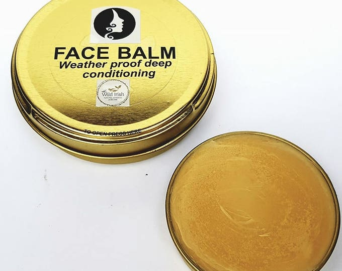 FACE BALM. Vegan. With Co Enzyme Q10,  Rosehip & soothing Calendula C02 extract. 100% Natural Ingredients.