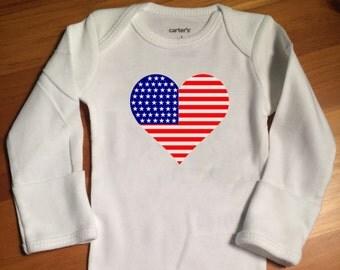 4th of July Onsie, Toddler Shirt
