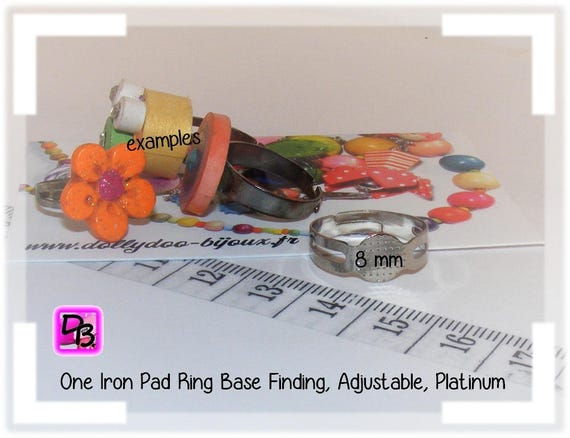 Support de bague 8 mm [Pad ring base]