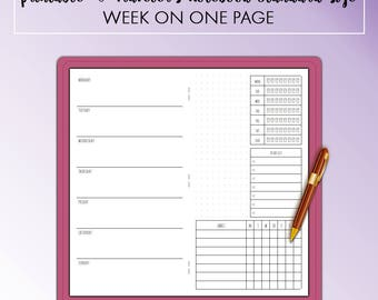 Traveler's Notebook Standard Week on One Page WO1P Monthly Printable Insert