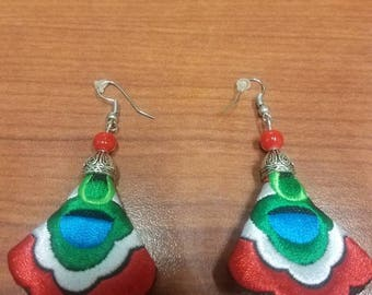 Chinese Embroidered Earrings