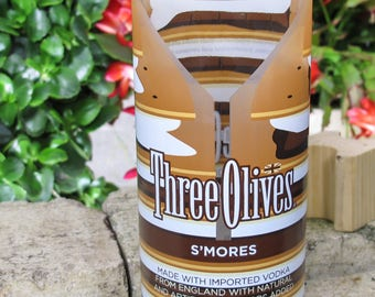 original table decor three olives smores Vodka Vintage Le Citron Vase valentines present unusual gift idea xmas present booze drinking gift