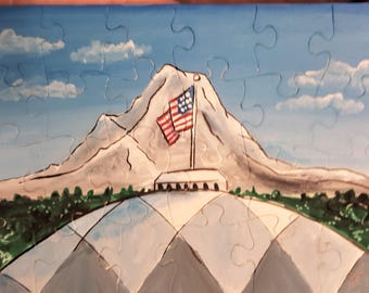 Art Puzzle, Tacoma Dome and Mt. Rainier