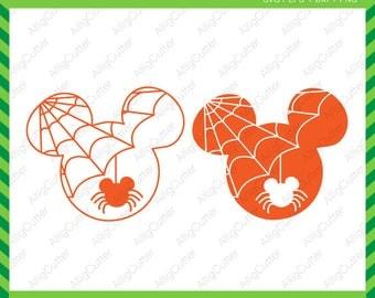 Halloween Svg Mouse spider SVG DXF PNG eps spider web net Cut Files for Cricut Design, Silhouette studio, Sure Cuts A Lot, Makes cut