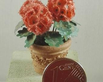 flowerpot geranium for dolls house
