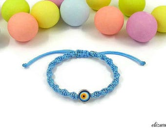 Evil eye baby bracelet, keepsake bracelet, toddler bracelet, infant bracelet, baby boy bracelet, newborn bracelet, baby protection bracelet.