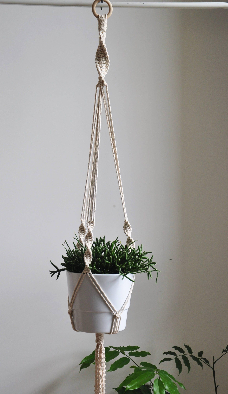 hanging planter macrame rope plant holder macrame planter - photo#8