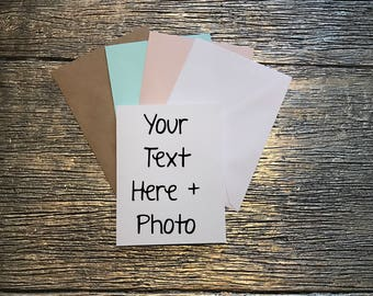Custom Cards for Every Occassion- Send me text and tell me what photo you want and I will create a card!