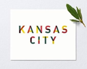 Kansas City Art Print | Kansas City | Travel Decor | Kansas Wall Art | KCMO | Kansas City Missouri | Kansas City Royals | Wall Art | Kansas