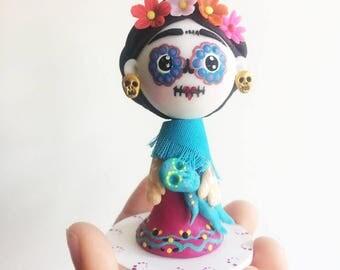 SugarSkull Frida Khalo Figure