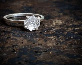 Raw Stone Ring Rough Quartz Ring Raw Quartz Crystal Ring Boho Jewelry Raw Quartz Jewelry Gothic Jewelry Raw Quartz Stacking Rings