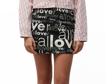 Moschino jeans printed skirt