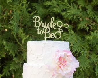 bride 2 be, bridal shower, wedding cake topper, from miss to mrs cake topper, bride to be cake topper, engagement party, gold glitter topper