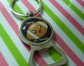Keychain bottle opener rugby third half father's day Dad Christmas
