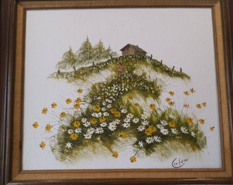 Original Oil On Canvas - Signed By Artist - Corbeau