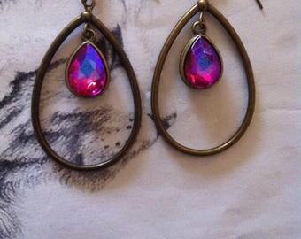 """Ruby Stud Earrings """"Pink"""""""