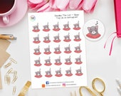 Doodles Cat Sleep Planner Stickers perfect for Erin Condren, Kikki K, Happy Planner, Kate Spade, Filofax Planner / Lazy Day / Early Night