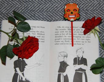 Sugar Skull Bookmark (ORANGE)