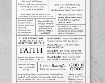 Faith - Scrapbooking/Card Making Quote Sheet **DIGITAL DOWNLOAD**