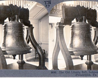 Liberty Bell at Independence Hall Philadelphia, Pa. Stereoview Photo