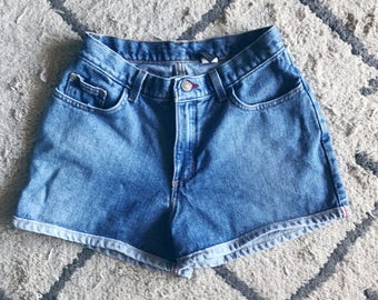 Cuffed High Waisted Shorts