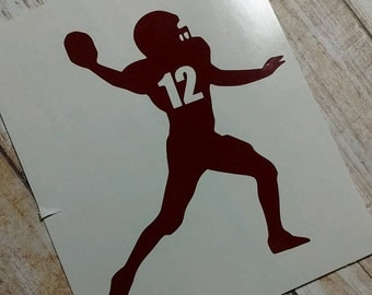 Decals/Monograms/Football Mom/Football Team/Touch Football/Pop Warn Football Decal/Football Monograms/Football Decal/Football Sticker