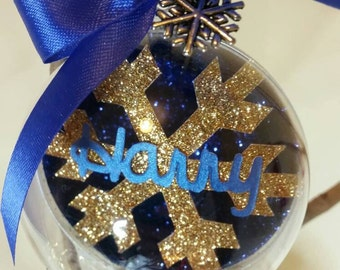 Christmas Bauble, Papercut Bauble, Christmas Tree Decoration, Name Bauble, Personalised Bauble, Christmas Decoration