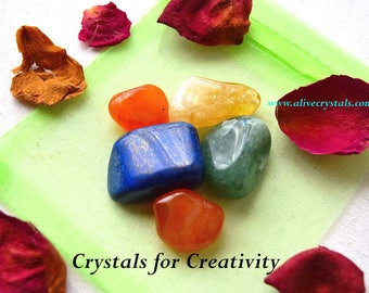 Crystals for Creativity Crystals for Creative Energy, Positive Energy Crystals, Creative writing, Expression, Painters, Musicians, Writers
