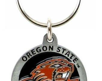 Oregon State Beavers Keychain & Keyring - Pewter