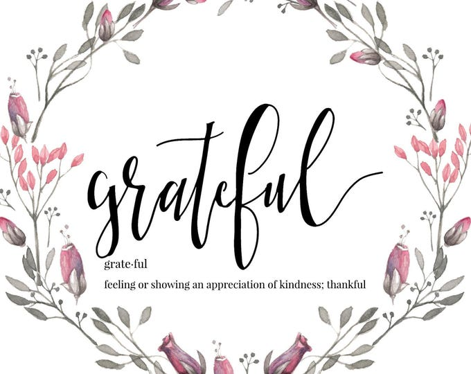 Plantable Gratitude Card, Thankful Grateful Blessed, Seeded Paper