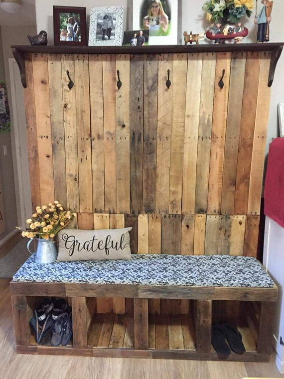 Hall Tree Made From Reclaimed Wood Pallet Wood Family