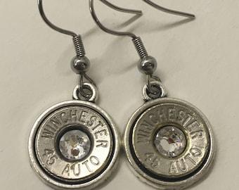 Nickel 45ACP Dangle Earrings
