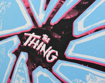 The Thing Limited Art Print - Horror Movie Poster