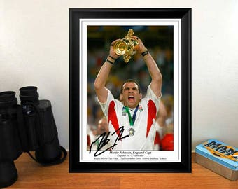 Martin Johnson England Rugby RWC Final 2003 Autographed Signed Photo Print