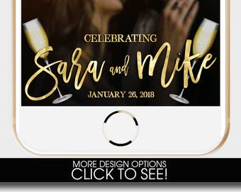 WEDDING SNAPCHAT GEOFILTER, Wedding Snapchat Filter,Floral Snapchat Filter,Custom Snapchat,champagne Snapchat Filter,Classic Snapchat Filter