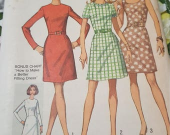 Vintage 1970 Simplicity #8858 size14
