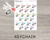 KeyChain Functional Icons - Painted Style - Planner Stickers
