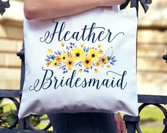 Bridesmaid Gift Watercolor Tote Bag - Oversized Canvas Tote Bag - Bridesmaid Gift Maid of Honor Bag - Bag Wedding Watercolor Tote Bag 20x15