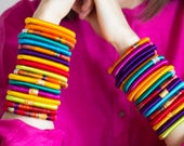 Accessories | Hand-made silk bangle - traditional Indian silk sari bracelets made by local social enterprises in India