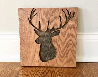 Deer Sign | Buck Sign | Deer Decor | Christmas Decor | Wall Art | Deer | Buck | Wood Sign | Wood Decor | Wall Art | Rustic Deer|Rustic Decor