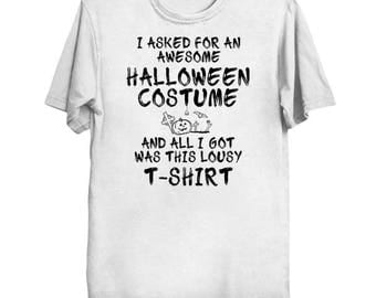 Lousy Halloween Costume (black font) | T-Shirt