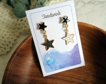 earrings, star Earrings,personalised,Bridesmaid Jewelry,Bohemian,Hippie,drop earrings,gift for her, dangle earrings,handmade