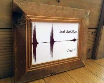 Customized Pet Soundwave Art with Online Preview! Voice memories, Personal Audio art, visualize any sounds - digital downloads-single color