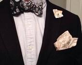 Black and Gold Mandala Bow Tie