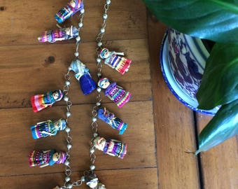 Vintage worry doll necklace
