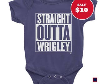Baby - Straight Outta Wrigley - Chicago Cubs One-piece