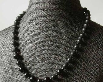 """Necklace """"antica Vienna collection"""" nat and black shiny Onyx."""