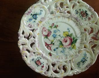 Elegant Italian ceramic Platter Bassano early ' 900