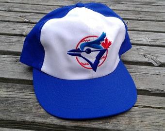 Vintage 80's Deadstock Toronto Blue Jays Ted Fletcher Baseball Snapback Cap Minty Minty